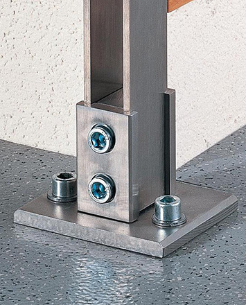 inox surface mounted fastener