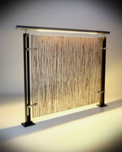 Ferric SS rail, resin infill, warm temp LED