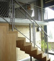 stair with Woven Cable Infill