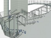 visual rendering of railing system design