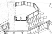 Custom Staircase railing system revit