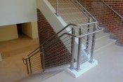 Custom railing systems at Farmingdale University