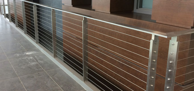 hdi koto riling system with steel infills for modern industrial railing design