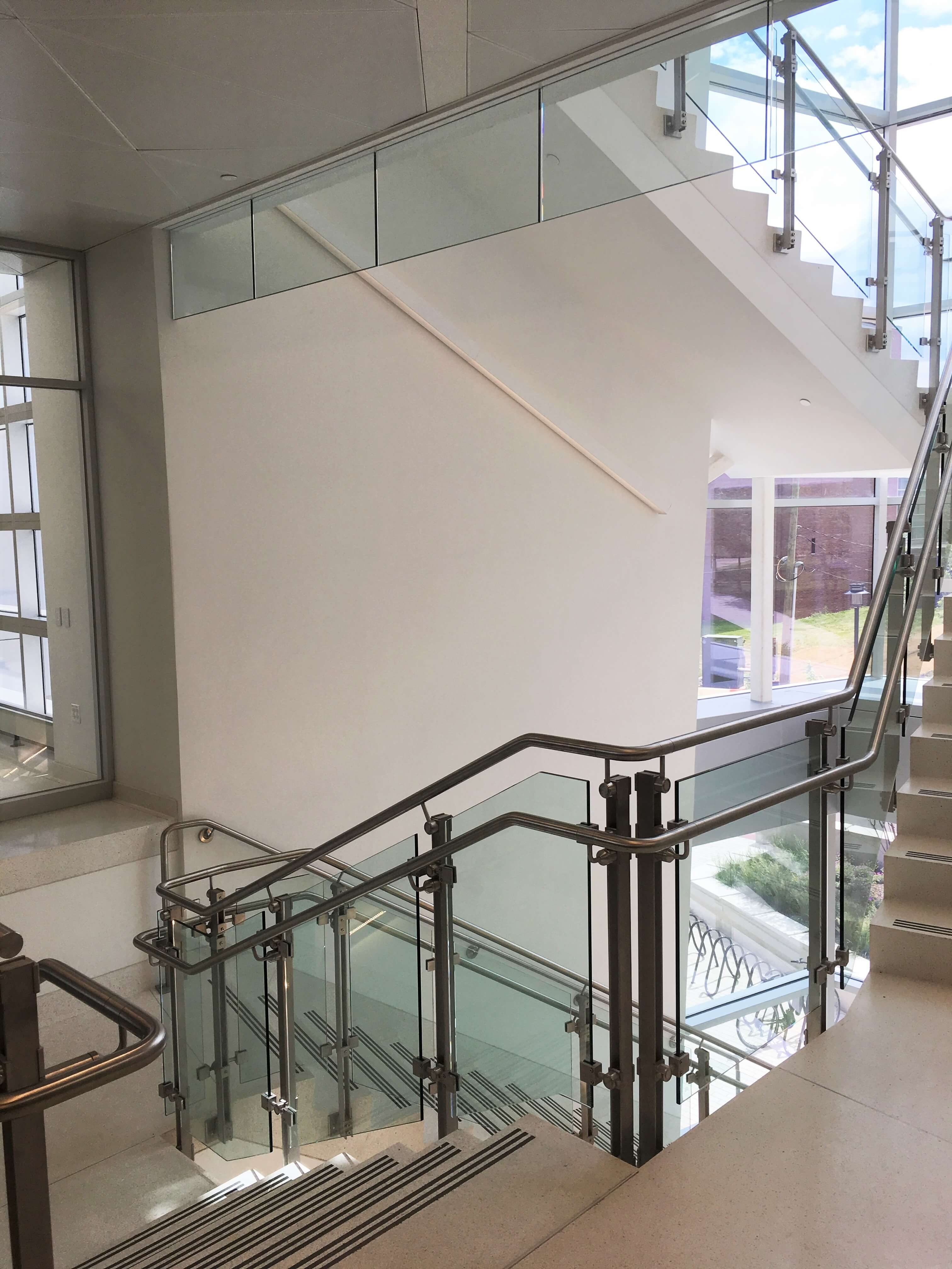 Kubit Glass Railing At Market Axess Nyc: Optik™ Smoke Baffle Photo Gallery