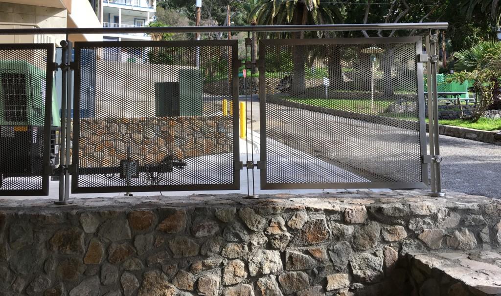 Stone and Steel railing at Catalina Island Conservancy HDI Railings