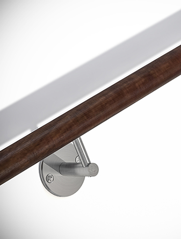 Circum Wood and stainless steel handrail