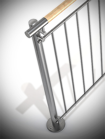 CIRCUM™ Round Post Railing System | HDI Railing Systems