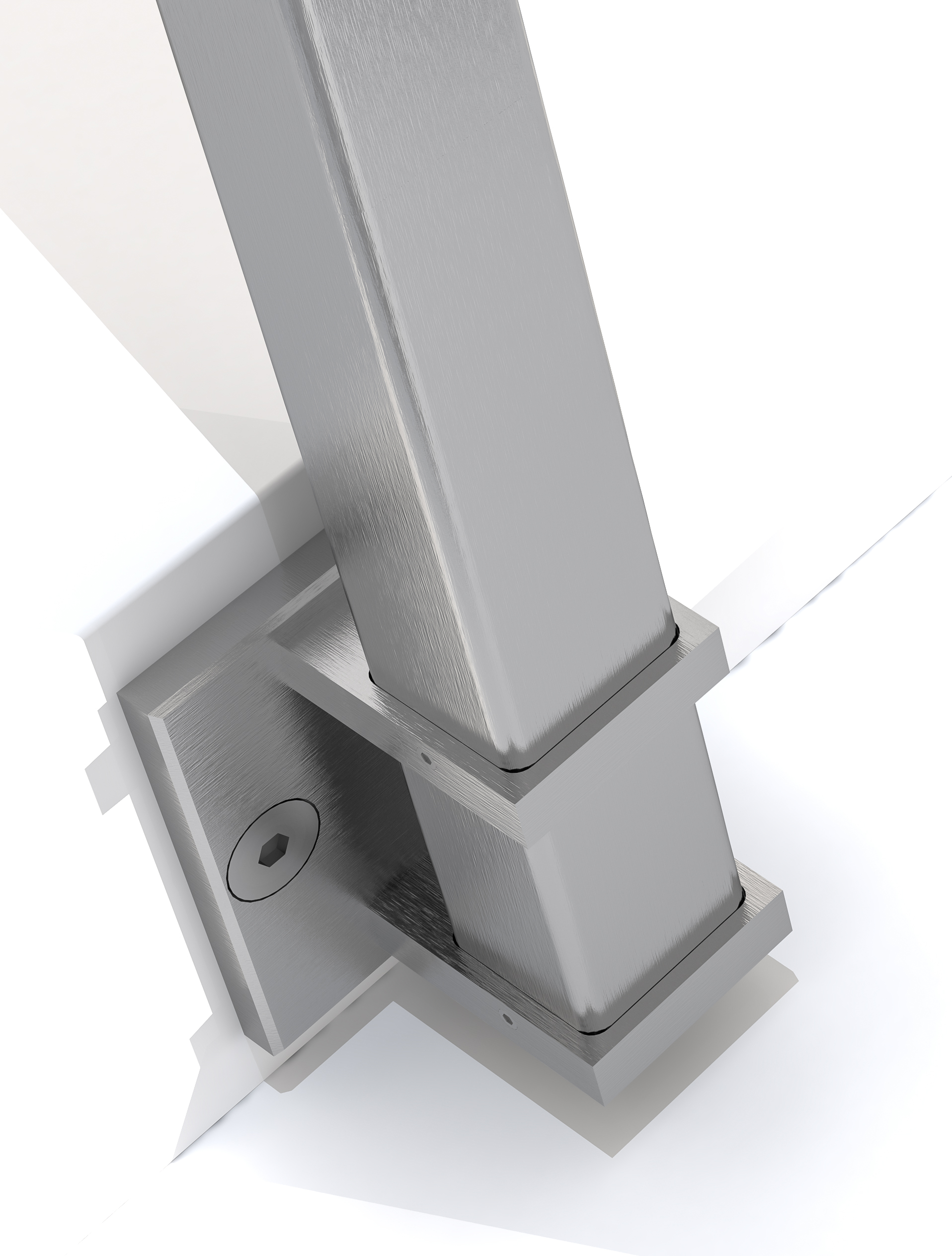 CIRCUM Square side mounted fastener