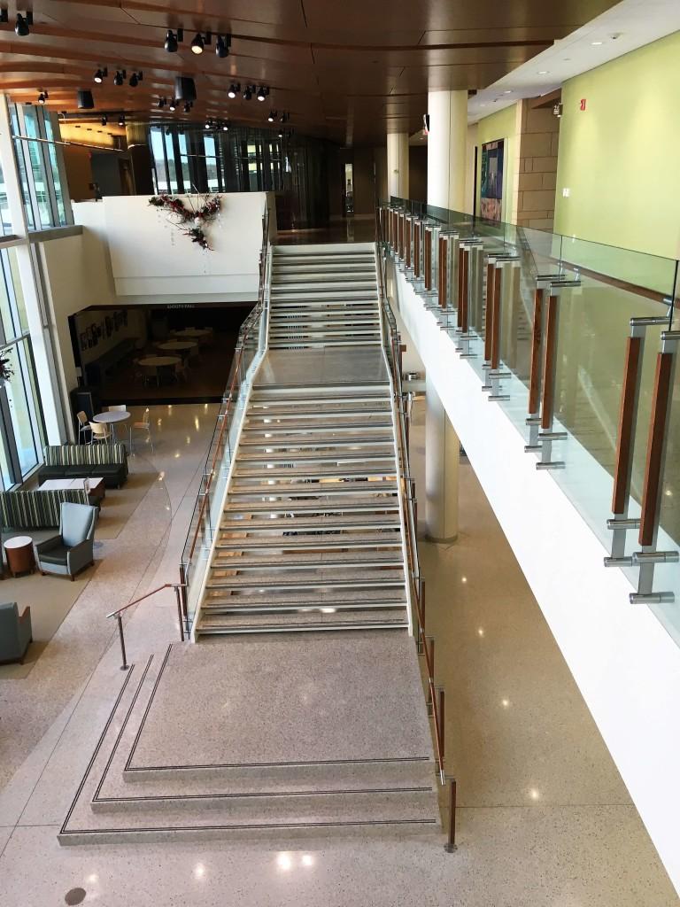 Custom stairs at University of Wisconsin-Madison School of nursing