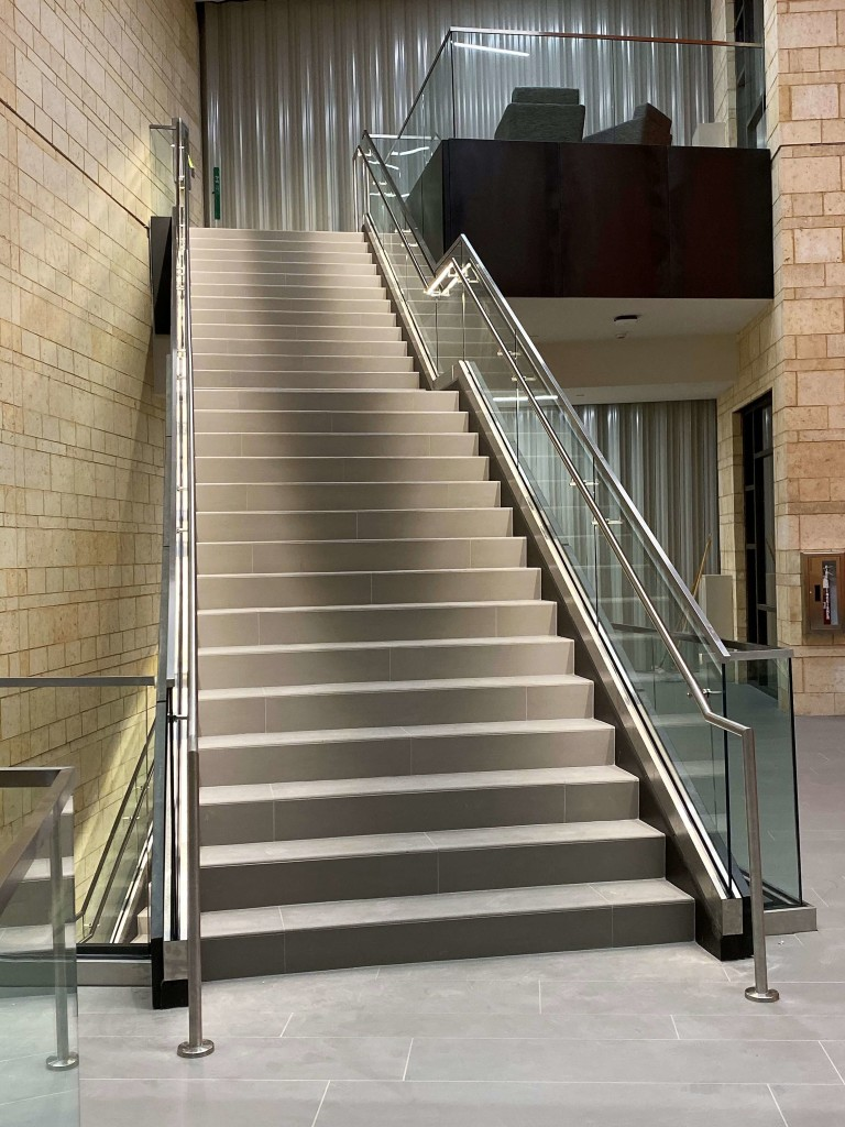 Optik Shoe stairs at University of Texas Permian Basin