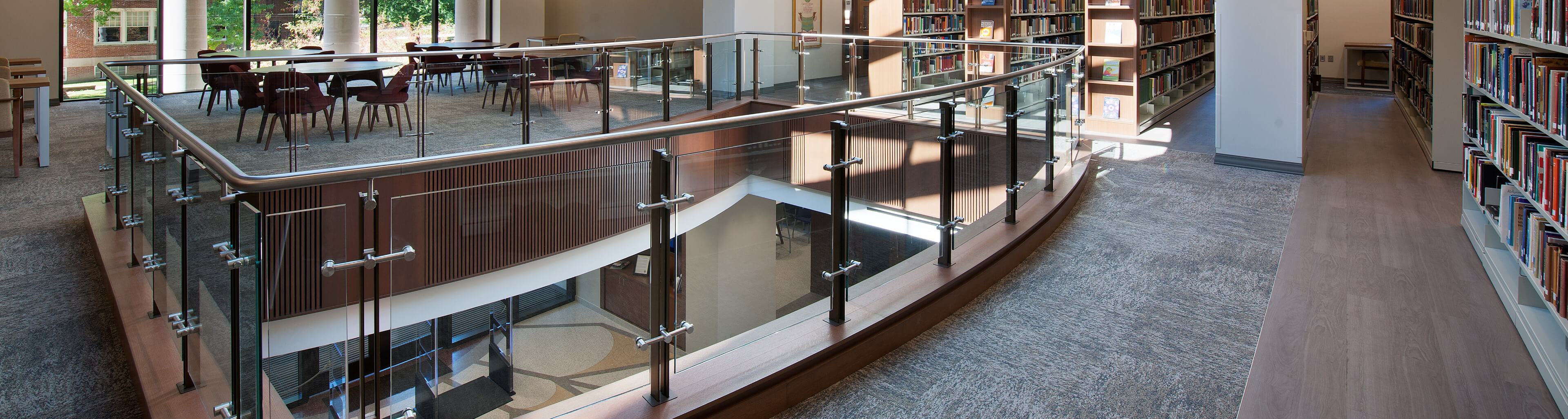 Ferric railing complements design concept at Theological Seminary
