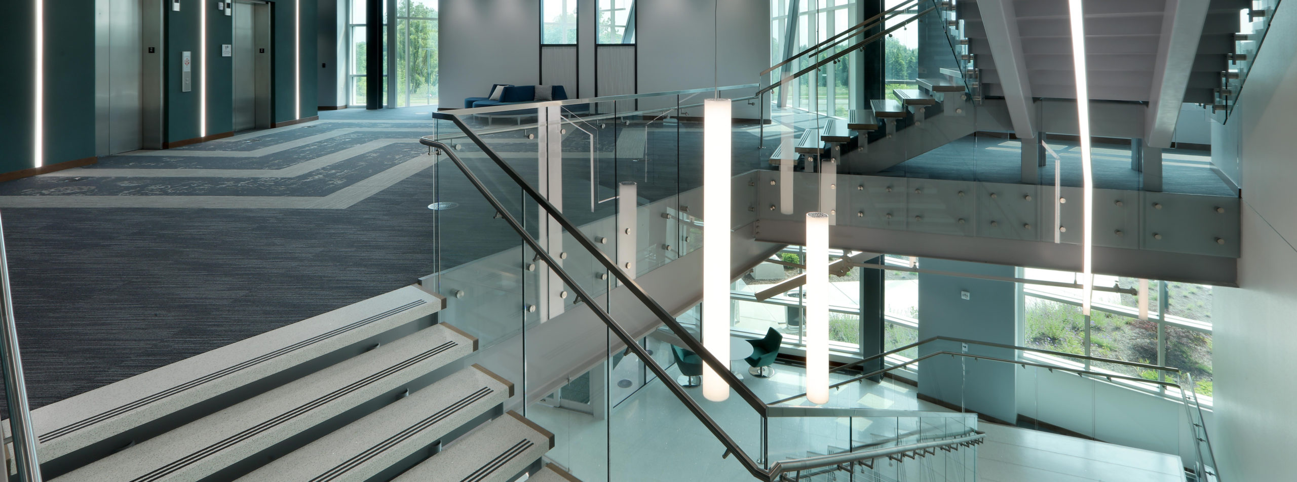 "Optik™Railing System provides a ""floating glass"" aesthetic for MSU Federal Credit Union"