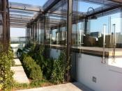 Rooftop Spa Sun Deck, DC, Kubit guardrail with glass infill panels