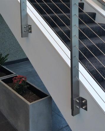 Closeup of Anaheim Concourse, CA, KOTO side mounting brackets