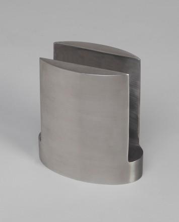 Closeup Studio shot of metal ellipsis Optik POD mounting hardware