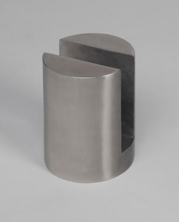 Closeup Studio shot of metal round Optik POD mounting hardware