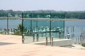 Glass deck banister