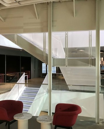 Google Offices, CA, Optik Shoe with glass infill panels