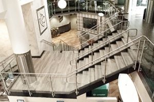 The revit software brought this to central space to life during the handrail design phase.