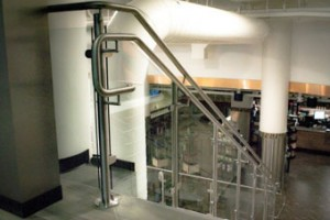 Revit software allows us to convey the look of the handrail design before we begin building .