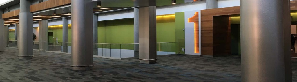 The San Jose Convention Center with HDI glass railing