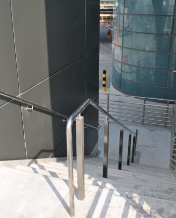 Circum square surface and side mounted installation at the Hamad Int. airport Doha, Qatar.