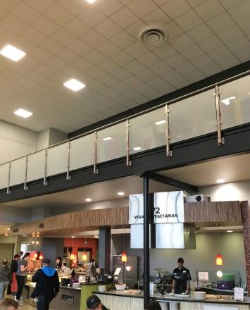 Circum square side mounted installation at Juniata College, PA.