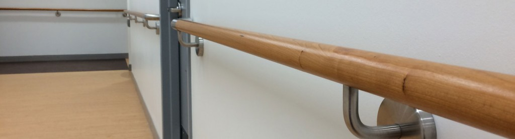HDI custom wooden handrail at the Lighthouse Guild in NYC