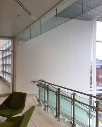 Rutgers University, NJ, Smoke baffle system with inox railing system