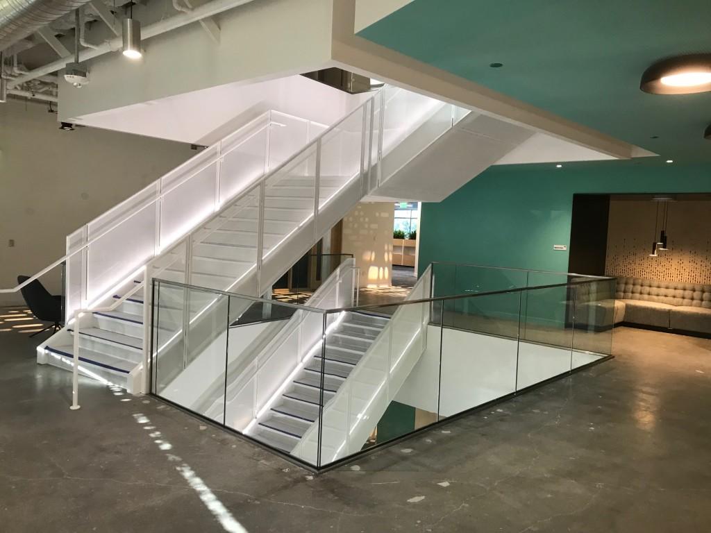 HDI glass stair railings at Google headquarters