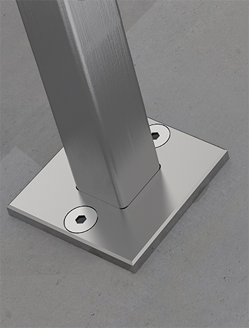CIRCUM Square surface mounted fastener